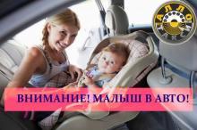 Перевозка маленьких детей в автомобиле